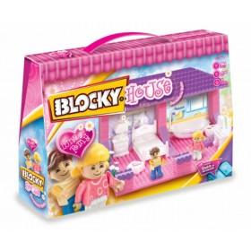 Bloque House Dormitorio Y Baño X 90 Piezas Blocky 644