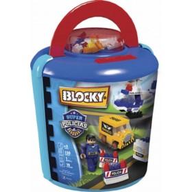Bloque Balde Super Policias X 120 Piezas Blocky 673