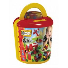 Bloque Balde Ciudad X 100 Piezas Blocky 0628