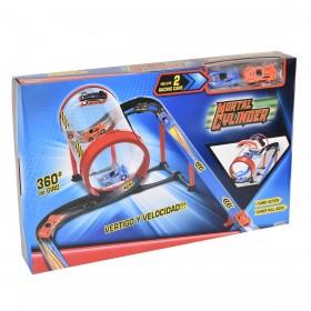 Pista Auto Mortal Cylinder Con 2 Autos Ditoys 2083