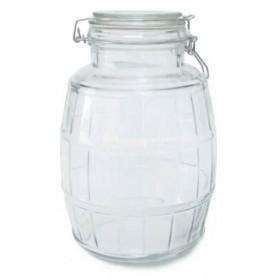 Frasco vidrio Barril Tapa Hermética 2,5Kg