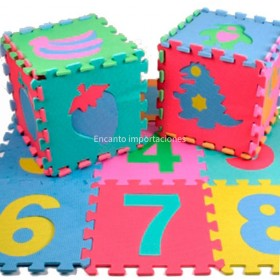 Piso De Goma Eva 10 Piezas De 30x30 cm Superficie 90 cm 57910200