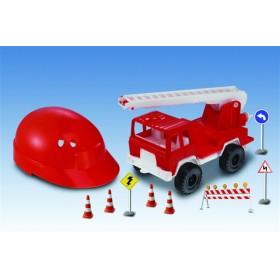 Camión Rescate Chico Con Casco Bravo 012170