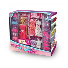 Muñeca Kiara Fashion +4 Vestidos Poppi Doll 5978-B083