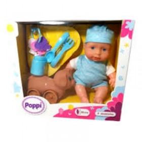 Bebé 20cm Con Mascota y Accesorios Poppi Doll 6603-28045