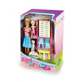 Muñeca Kiara Maestra Con 2 Alumnas Poppi Doll 5973-B182