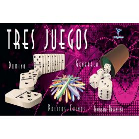 Tres Juegos Generala, Dominó, Palitos Chinos Toto Games JM2032