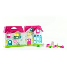 Casa De Muñecas Con Muebles Y Accesorios 40cm B80124-1301