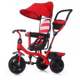 Triciclo Metal Con Manija Dirección Toldo Asiento Regulable Priori RT9043