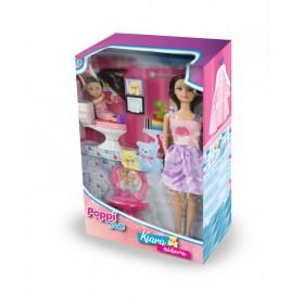 Muñeca Kiara Niñera Con Nena Poppi Doll 5976-B194