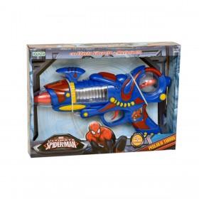 Pistola Turbo Con Luz Y Sonido Spiderman Ditoys 1567