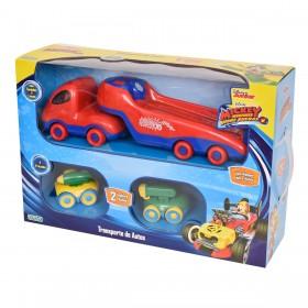 Camión Transportador + 2 Autos Mickey Sobre Ruedas Ditoys 2021