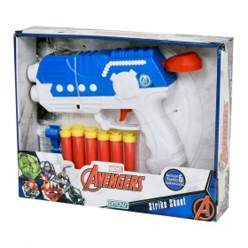 Pistola Strike Shoot Con Dardos Avengers Ditoys 2007