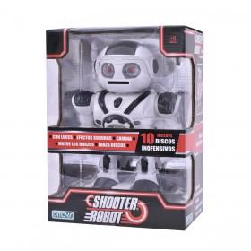 Robot Shooter Lanza Disco Camina, Luz Y Sonido Ditoys 2204