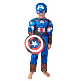 Disfraz Capitán América Con Músculo Talle 1 123210
