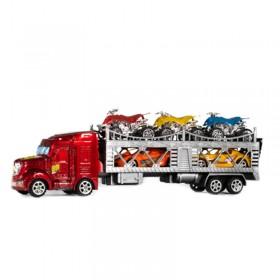 Camión Transportador Mosquito + 2 Autos + 3 Cuatriciclos 088B