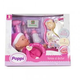 Bebé Vamos Al Doctor Con Sonido Y Accesorios Poppi Aye 5365-27030