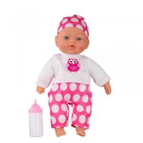 Bebé 31cm Con Sonido Y Mamadera Poppi Clari 5363-27001