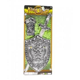 Set Caballero Medieval Con Espada + Escudo + Muñequera 2991
