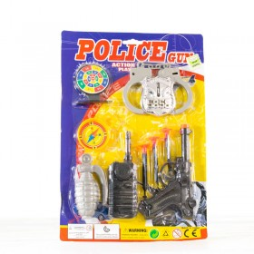 Set De Policía 9 Piezas Con Pistola Lanza Dardos 1664043