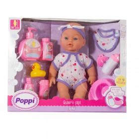 Bebé Quiero Pipí Con Pelela + Accesorios Poppi Lola 5360-16020