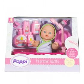 Bebé Con Bañera + Pelela + Accesorios Poppi Sofi 5359-16017