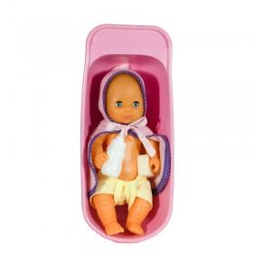 Mi Bebé Recién Nacido 30cm Con Bañera Yoly Bell 164