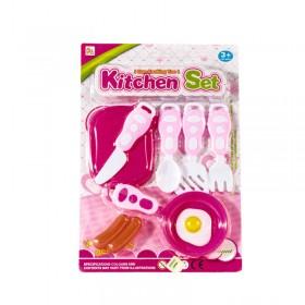 Set De Cocina Con Sartén Y Tabla X8 Piezas B1462043