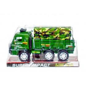 Camión Militar Con Toldo Fricción 24 cm B1592100/2303