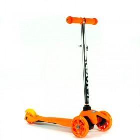 Monopatin Scooter 3 Ruedas Liso Con Luz Soporta 45Kl 1542