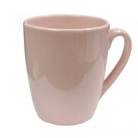 Jarro Mug Liso Rosa Bombe Blanco Conico Recto