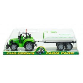 Tractor Con Cisterna Childrens Farm Park Fricción 9978