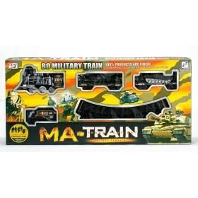 Tren Militar con vías Sonido y Humo 76cm