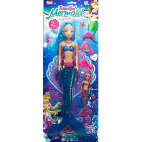 Muñeca Sirena Mermaid 45cm Con Luz Y Accesorios