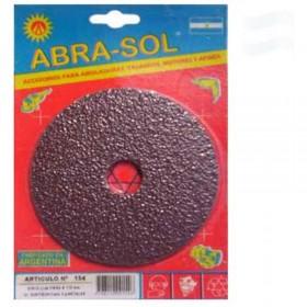 Disco Lija Fibra 115MM para Metal Abra-Sol ABR0154